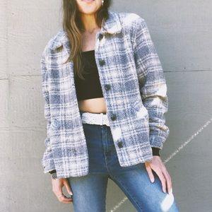 Vintage 90's Plush Checkered Jacket